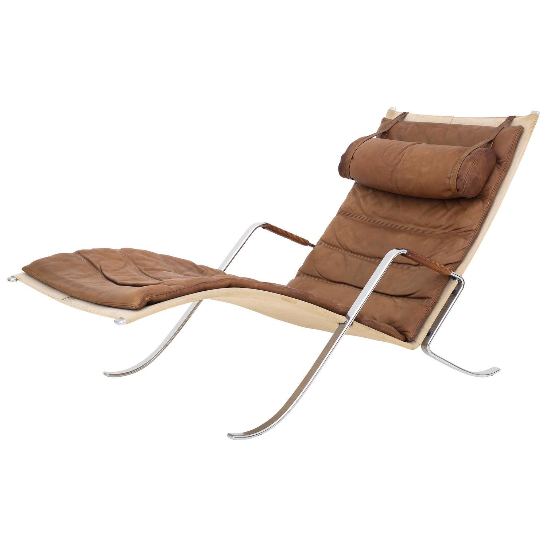 fk 87 grasshopper chaiselong for sale at 1stdibs. Black Bedroom Furniture Sets. Home Design Ideas