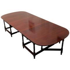Zweiteiliger Ess- oder Konferenztisch aus Mahagoni, späte Regency-Periode