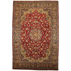 Early 17th Century Persian Isfahan Carpet At 1stdibs