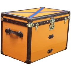 1920s Louis Vuitton Orange Trunk