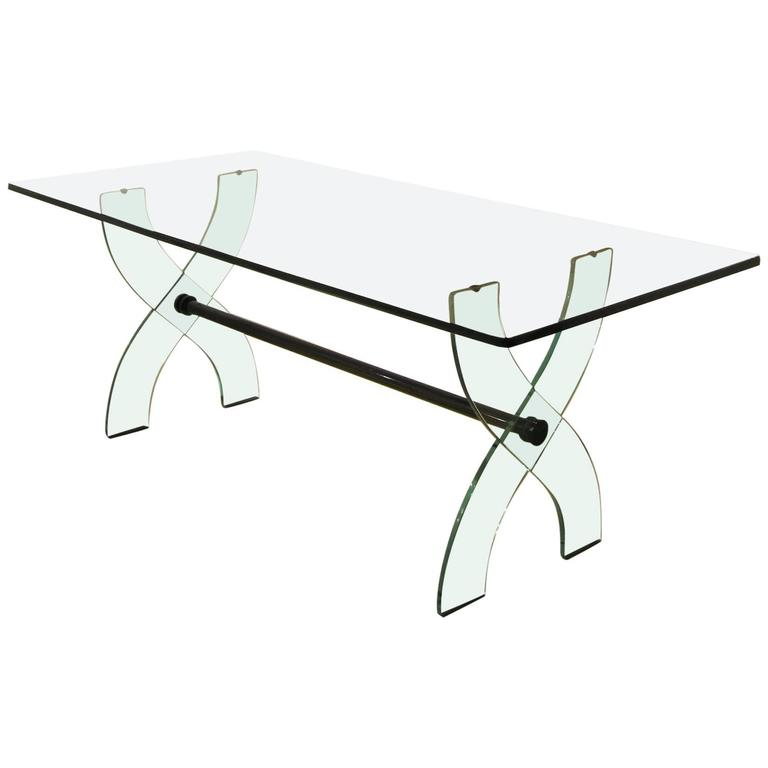 Fontana Arte Glass Dining Table from 1950s