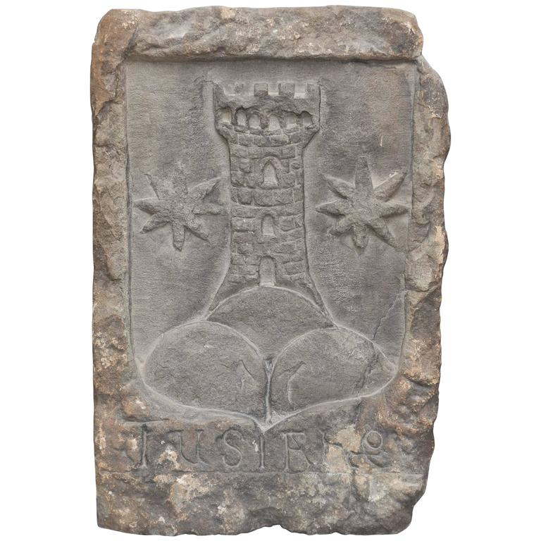 16th Century South Italian Stone Carved Coat of Arms, circa 1540