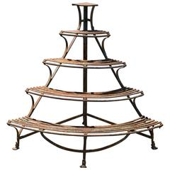 "French ""Arras: Iron Plant Stand"