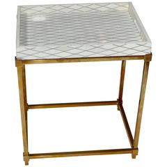 Bone Side Table with Tray