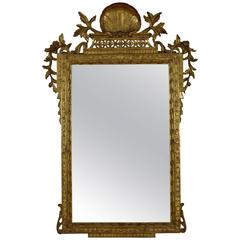 Italian Rome Carved Neoclassic Giltwood Mirror Third Quarter of the 18th Century