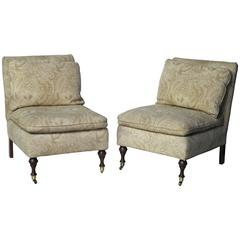 Pair of Regency Style Slipper Chairs