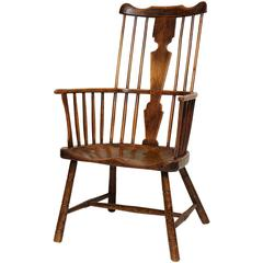 18th Century English Comb Back Windsor Armchair