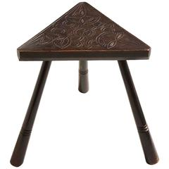 Irish Arts and Crafts Triangular Low Table