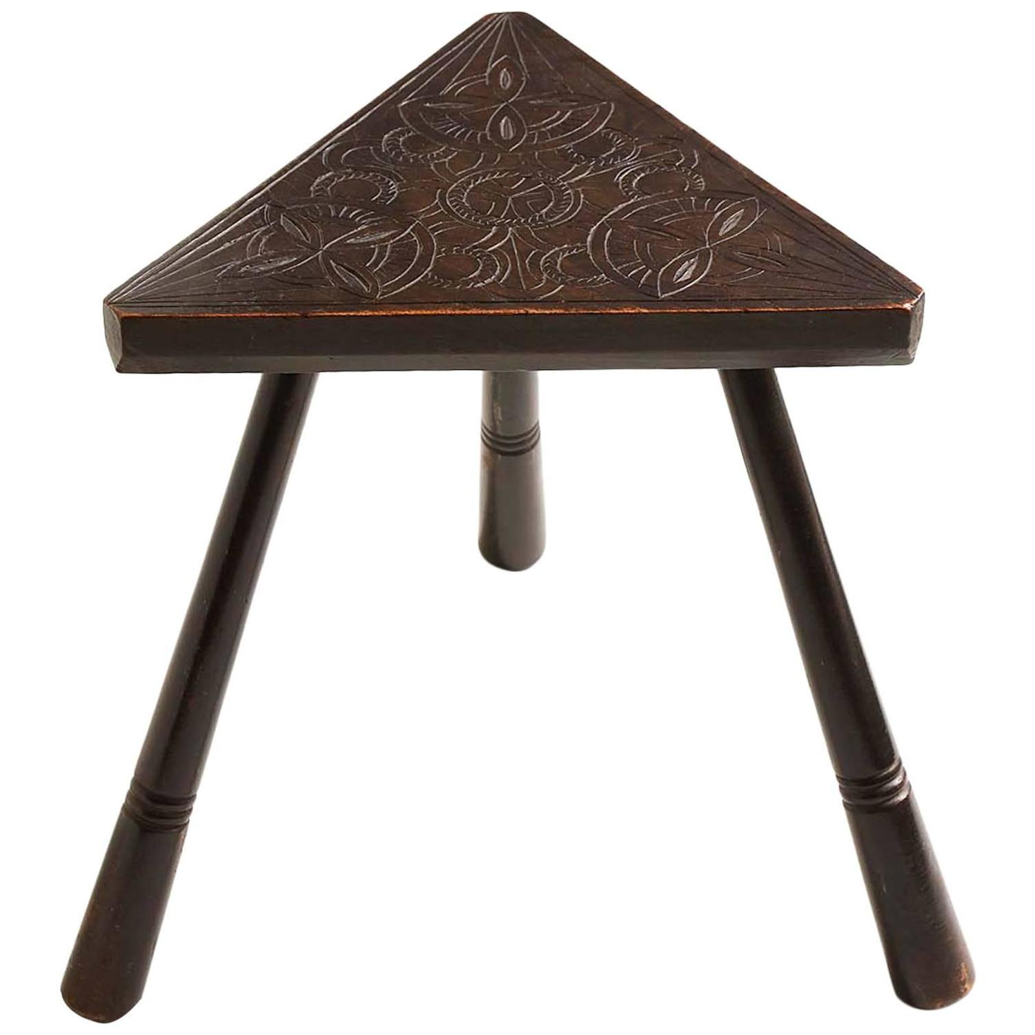Irish Arts And Crafts Triangular Low Table For Sale At 1stdibs