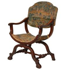 "William and Mary Period Walnut ""X"" Frame Chair"