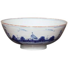 18th Century Delft Punch Bowl