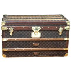 1900s Louis Vuitton Damier Canvas Trunk