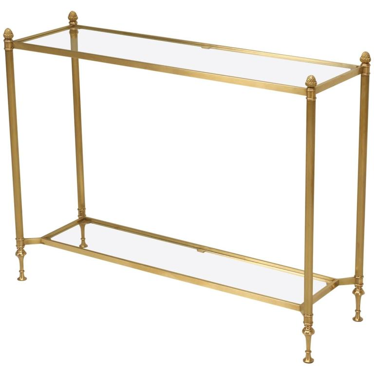 Mid-Century Modern Brass Console Table At 1stdibs
