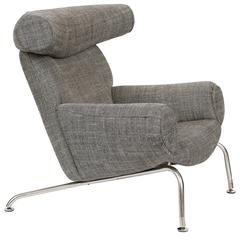 Ox Chair by Hans Wegner in Romo Fabric