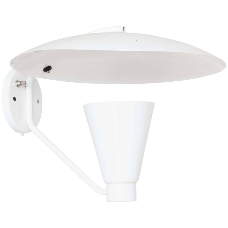 White Wall Sconce by Lightolier For Sale