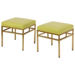 Pair of 1950s Brass Stools in COM