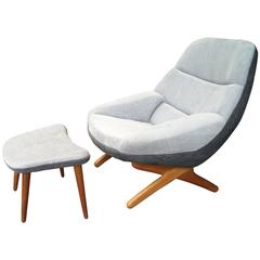 Illum Wikkelsø Lounge Chair and Ottoman