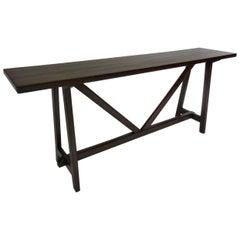 Dos Gallos Custom Rustic Modern Walnut Console Table