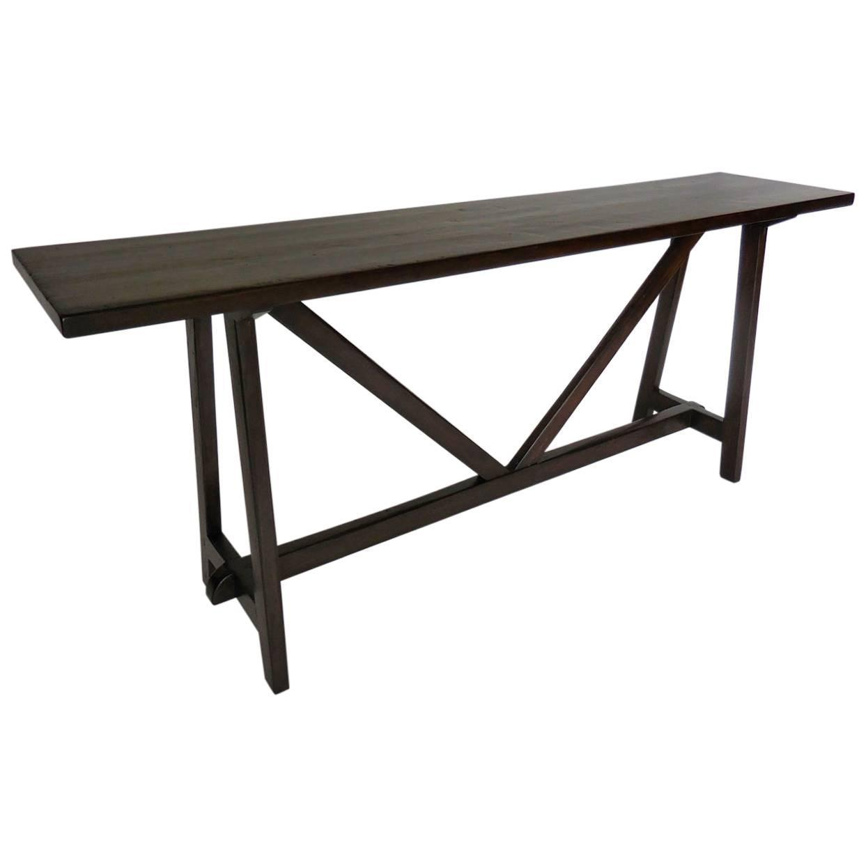 Rustic Sofa Tables For Sale: Rustic Modern Console Table For Sale At 1stdibs