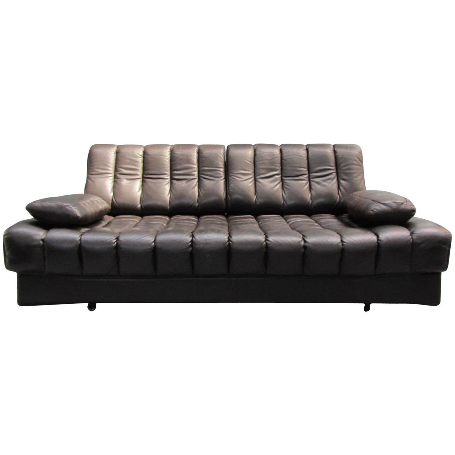 De Sede DS85 Daybed Sofa Couch Loveseat Black Brown Leather 1960