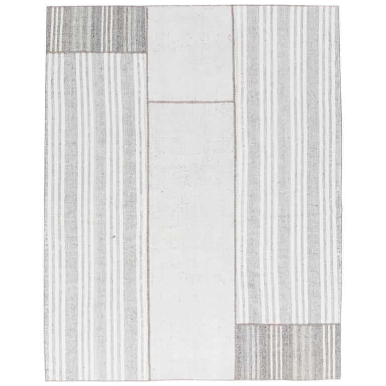 Cotton Anatolian Kilim, Flat-Woven Rug