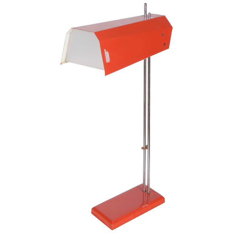 Vintage Orange Table Lamp For Sale At 1stdibs