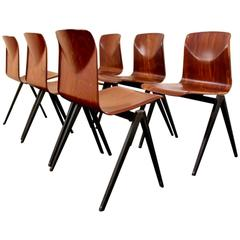 Large Stock of Stackable Pagholz Galvanitas S22 Industrial Dinner Chairs, 1960s