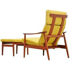 Arne Vodder FD164 Adjustable Lounge Chair France & Son, 1962