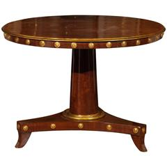 Early 19th Century Empire Period Tilt-Top Pedestal Center Table