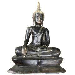 Lovely Bronze Buddha Thailand Ayutthaya Ideal Size for Indoor Gallery or Office