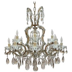 "Large Maria Theresa Seventeen-Light Chandelier (29"" Diameter)"