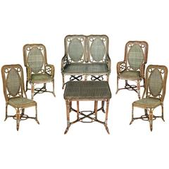 Set of Winter Garden Furniture by Perret et Vibert, France, End of 19th Century