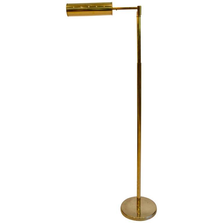 Mid Century Modern Walter Von Nessen Swing Arm Brass Floor Lamp ...