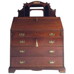 Antique Bureau Edwardian 20th Century Mahogany Writing Bureau Desk, 1900