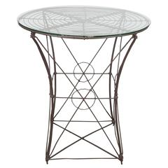 American 19th Century Woven Wire Victorian Garden Table from J. Garvin Mecking