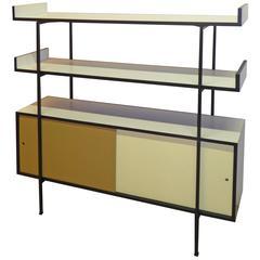 1950s Credenza Shelves Room Divider in the Manner of Paul McCobb