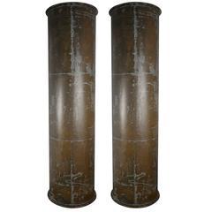 Pair of Industrial Exhaust Columns