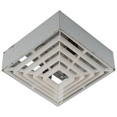 Factory Square Wall Sconce or Flush Mount Light
