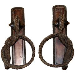 Bronze Rope Style Towel Holders