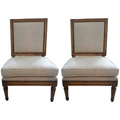 Pair of 19th Century French Louis XVI Style Children's Chairs