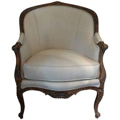 19th Century French Regence Style Gilt Wood Bergere