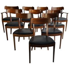 Set of Ten Mid-Century Dining Chairs by Kipp Stewart for Drexel