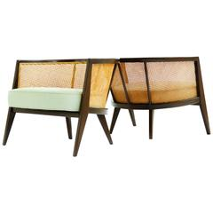 Harvey Probber Curved Back Lounge Chairs