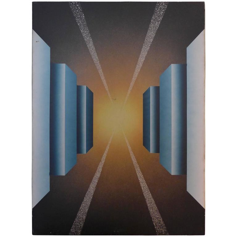 Fantastic Journey Acrylic on Canvas and Electronic by Alain Bisson, circa 1987