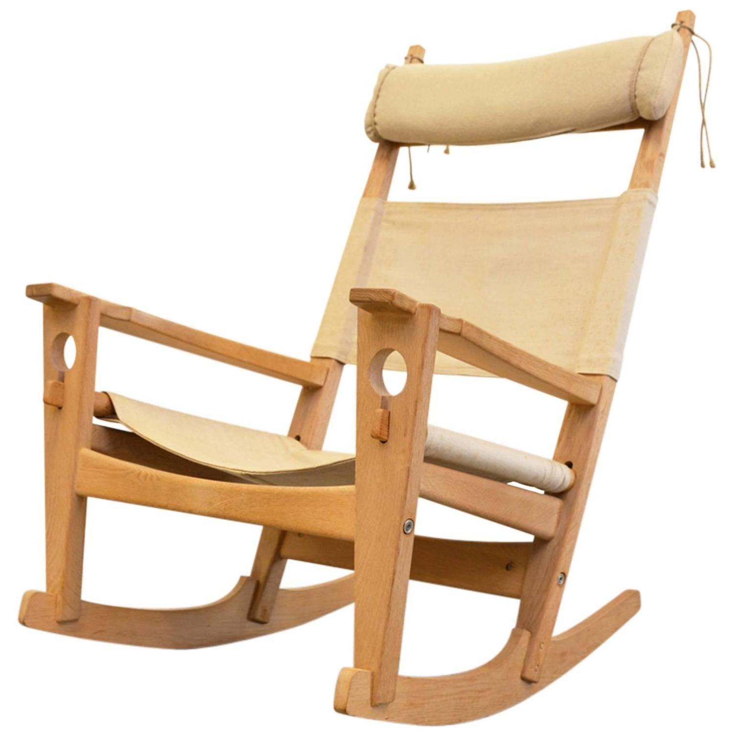 Wonderful image of Keyhole Rocking Chair by Hans Wegner For Sale at 1stdibs with #4A260A color and 1500x1500 pixels