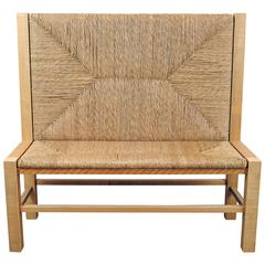 Wood Woven Bench by Michelangeli, Italy