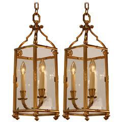 French Bronze Lantern by Atelier Petitot