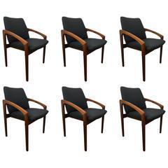 Six Kai Kristiansen Dining Chairs
