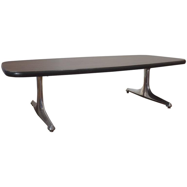 Mid-Century Coffee Table with Cast Chromed Aluminum Legs by Chromcraft For Sale