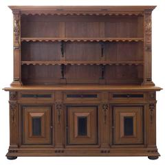 19th Century Renaissance Style Three-Door Cabinet